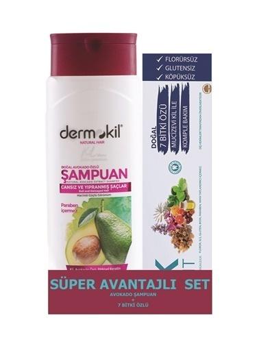 Dermokil Dermokil Avokado Şampuan 400 ml + 7 Bitki Özlü Diş Macunu 75 ml-2'li Avantajlı Set Renksiz